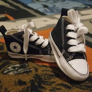 Infant Black Converse Crib Shoes